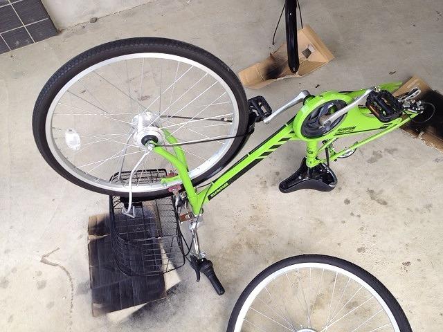 子供用自転車を組み立てた