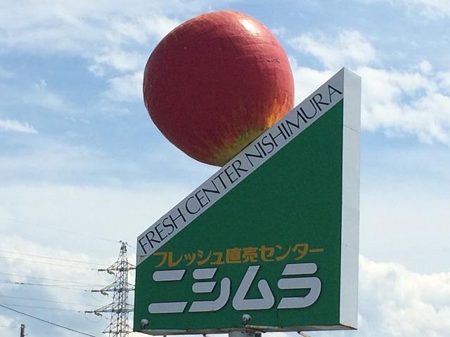 国道18号線沿いにそびえ立つ、長野市篠ノ井の超超超巨大なリンゴが生まれ変わった!
