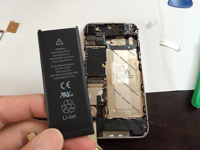 WiFiのつながらなくなったiPhone4Sを分解して修理してみた