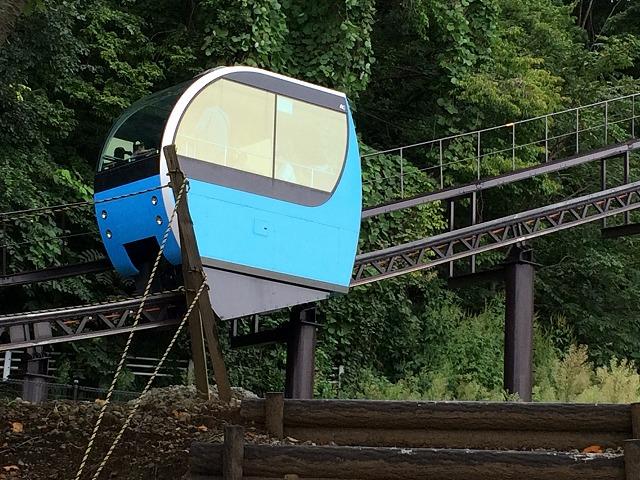 長野市篠ノ井にある茶臼山動物園のモノレールは、ちょっと可愛い乗り物だった
