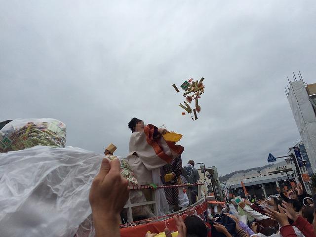 篠ノ井の秋のお祭り恵比寿講。2日目はニンニンジャーや宝船がやってきた
