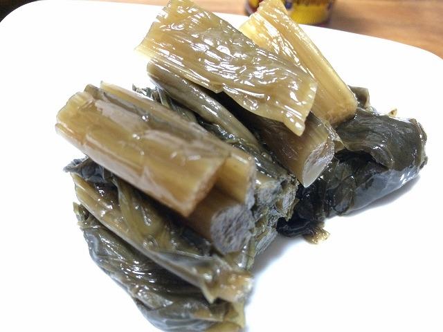長野の名産「野沢菜漬け」お茶のお供はこれっきゃない。信州特産物!