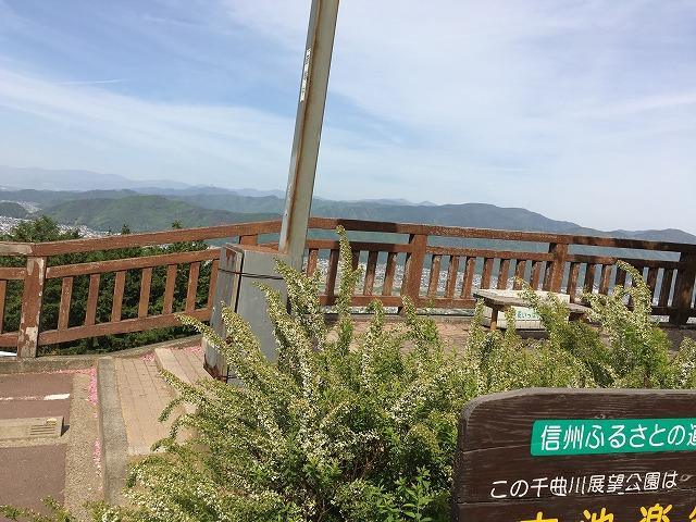 聖高原の手前にある千曲川展望公園で姨捨の絶景を見てきた