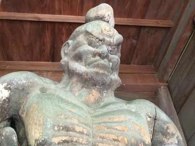 信更の三水にある長野県宝の仁王山長勝寺の「仁王尊」を見てきた