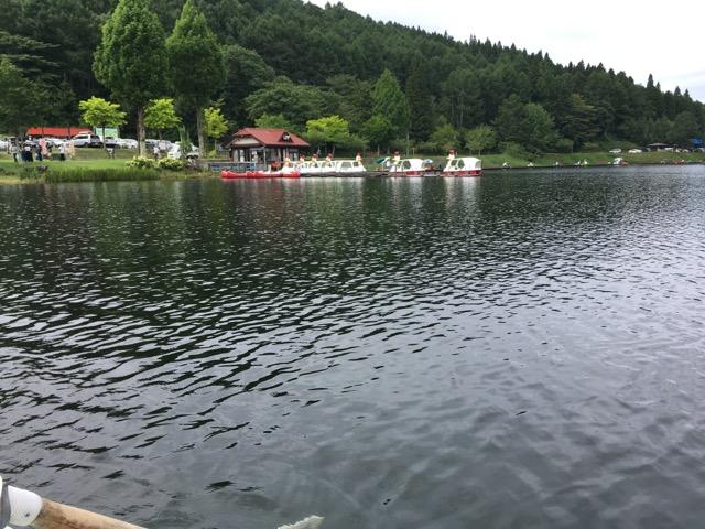 聖高原の聖湖で30分800円のカヌーに親子で乗ってみた件