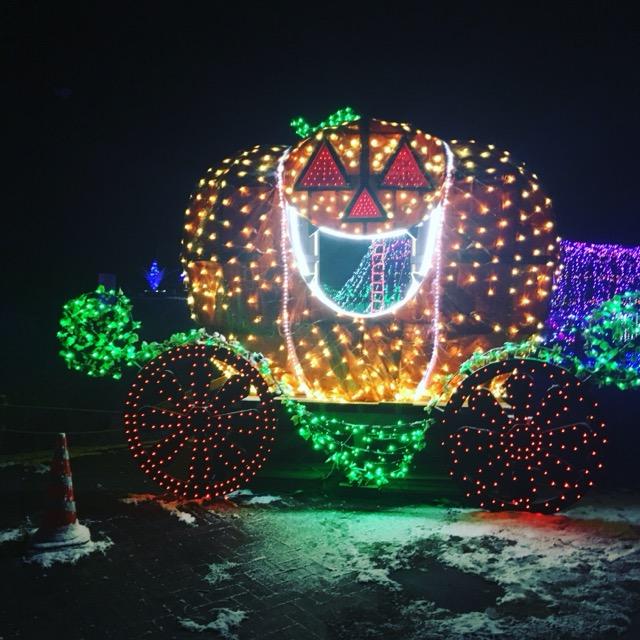 光るかぼちゃのイルミネーション!千曲市の科野の里ふれあい公園が素敵!