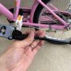 補助輪を外した子供用自転車に約600円のスタンドを後付けしてみた